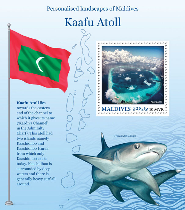 Kaafu Atoll - Issue of Maldives postage stamps