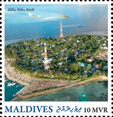 Alifu Alifu Atoll - Issue of Maldives postage stamps