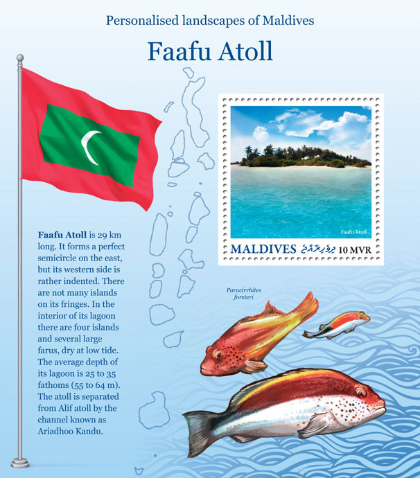 Faafu Atoll - Issue of Maldives postage stamps