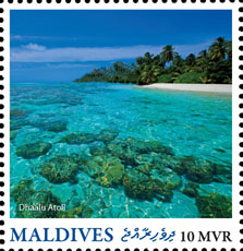 Dhaalu Atoll - Issue of Maldives postage stamps