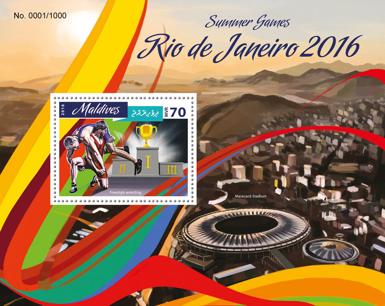 Summer Games Rio - Issue of Maldives postage stamps
