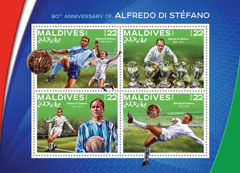 Alfredo di Stefano - Issue of Maldives postage stamps