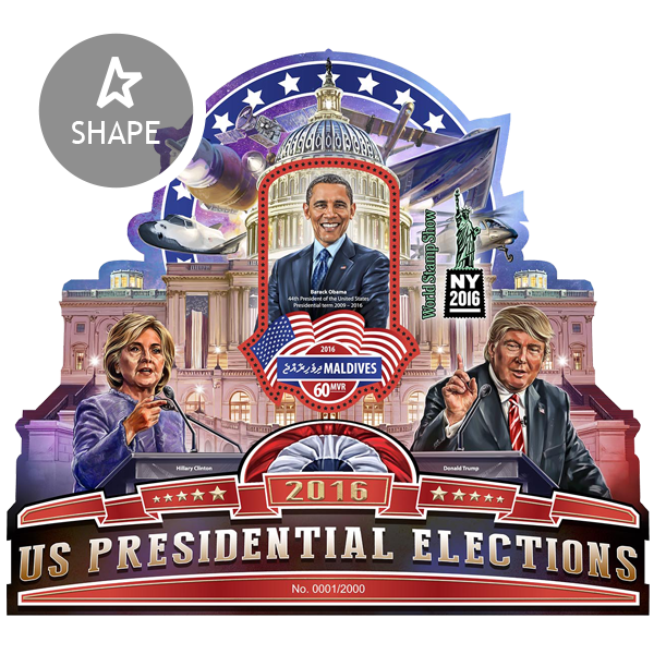 US Presidential Election - Issue of Maldives postage stamps