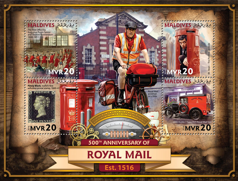 Royal Mail - Issue of Maldives postage stamps