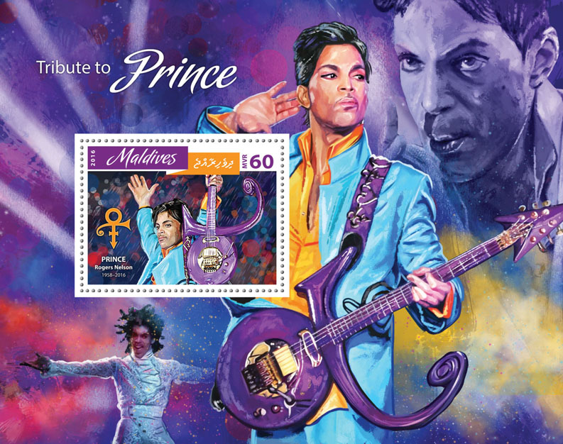 Tribute to Prince  - Issue of Maldives postage stamps
