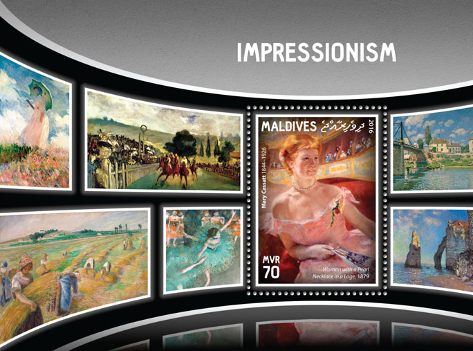 Impressionism - Issue of Maldives postage stamps