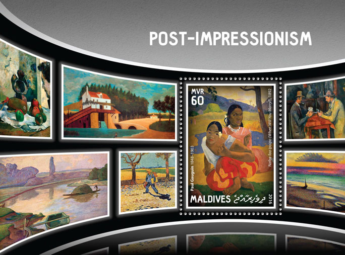 Post-Impressionism - Issue of Maldives postage stamps