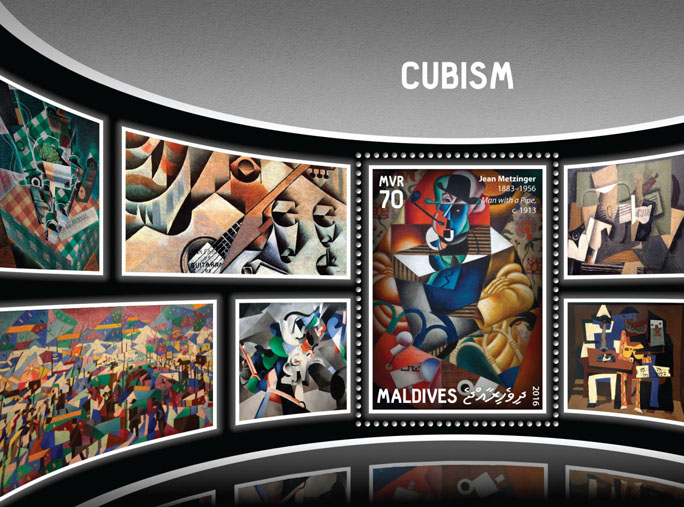 Cubism - Issue of Maldives postage stamps