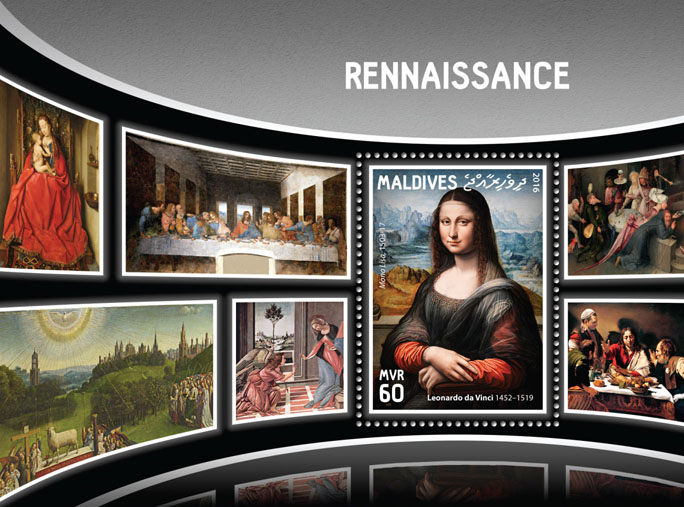 Renaissance - Issue of Maldives postage stamps