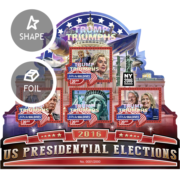 Donald Trump – US Presidential Election - Issue of Maldives postage stamps