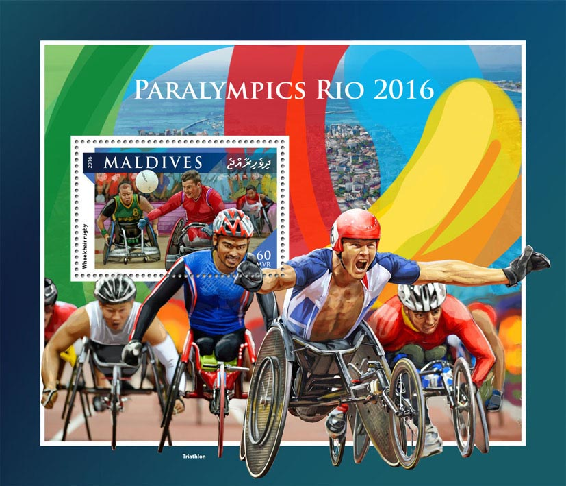 Paralympics - Issue of Maldives postage stamps