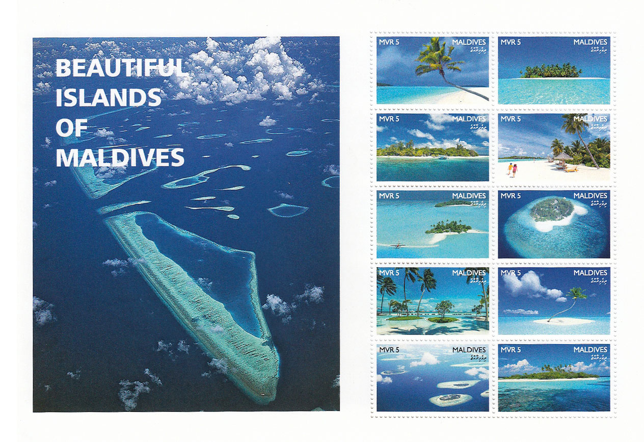 Beautiful Islands of Maldives - Issue of Maldives postage stamps