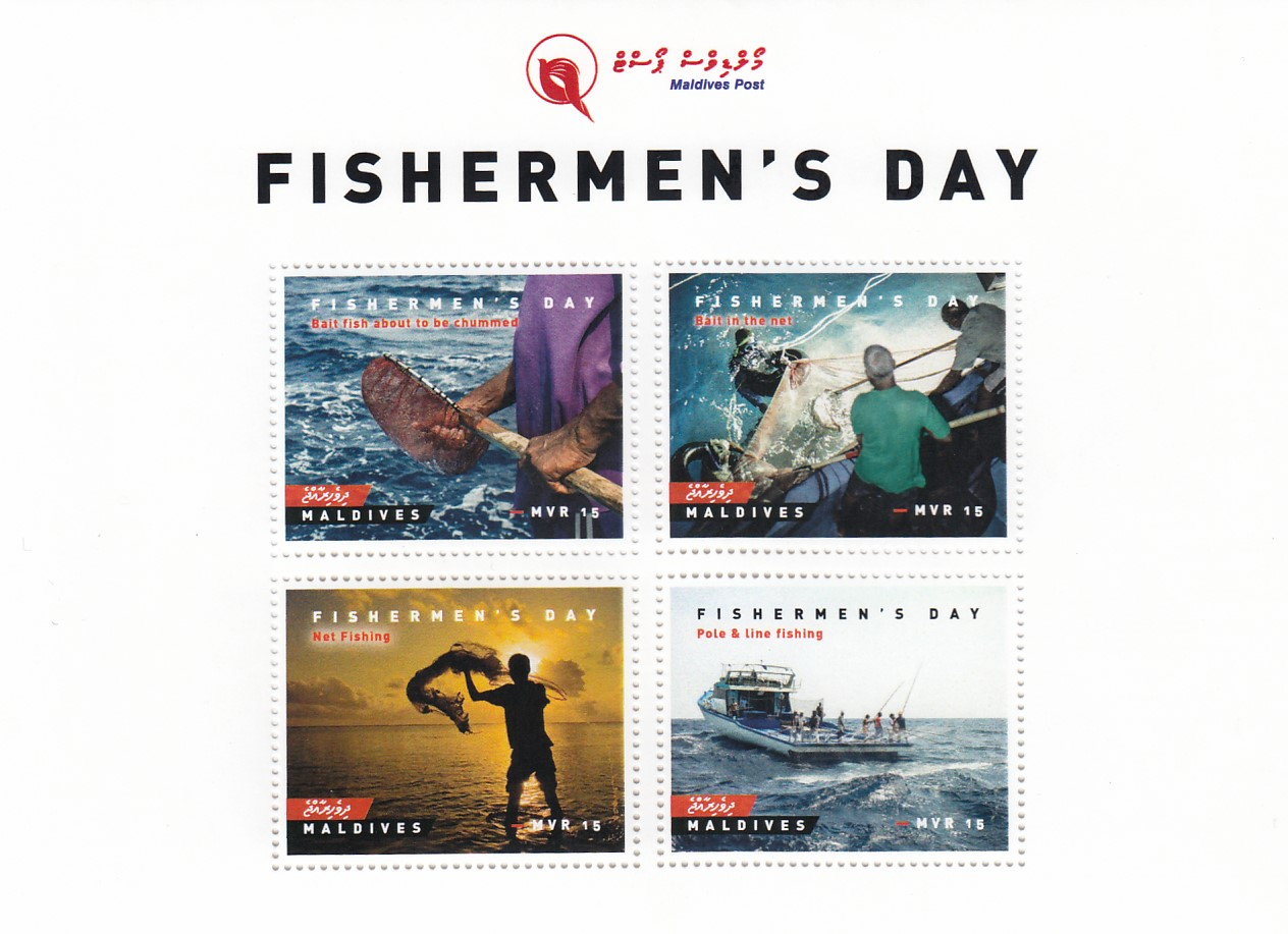 Fishermen's day - Issue of Maldives postage stamps