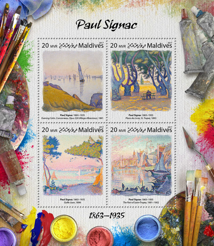 Paul Signac - Issue of Maldives postage stamps