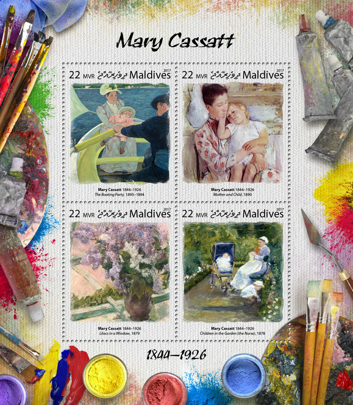 Mary Cassatt - Issue of Maldives postage stamps