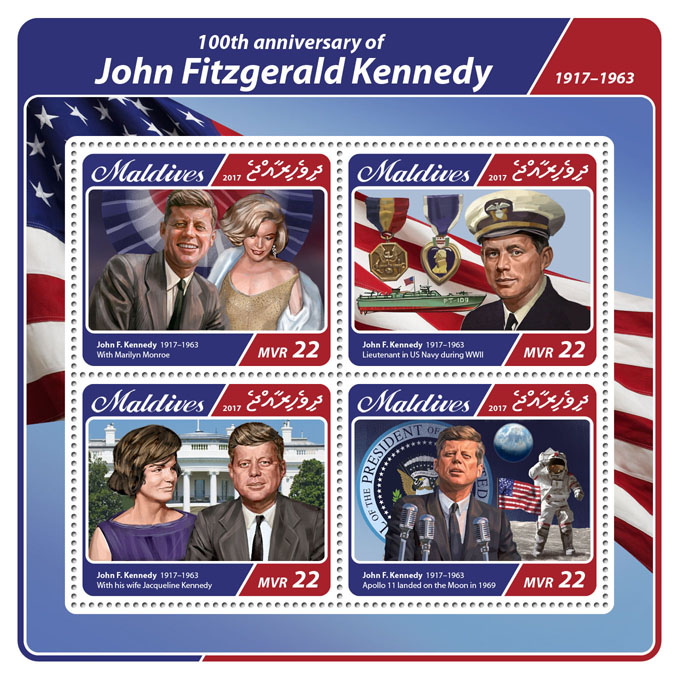 John Kennedy - Issue of Maldives postage stamps