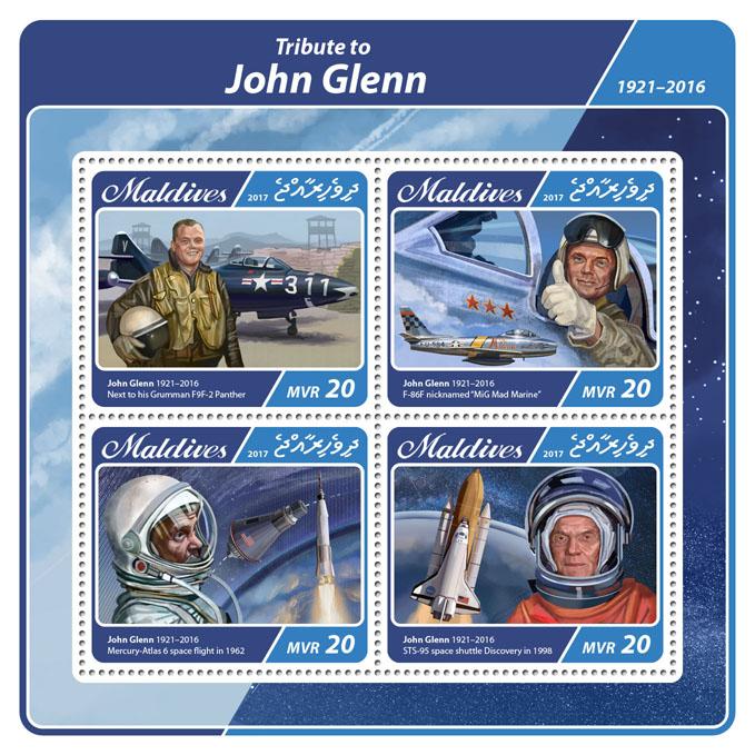 John Glenn - Issue of Maldives postage stamps