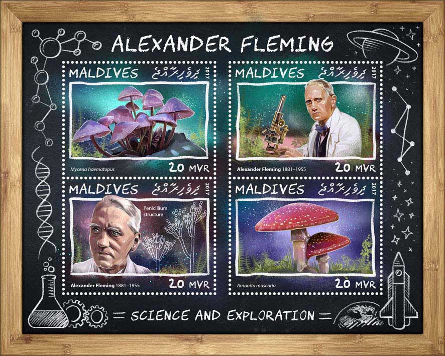 Alexander Fleming - Issue of Maldives postage stamps