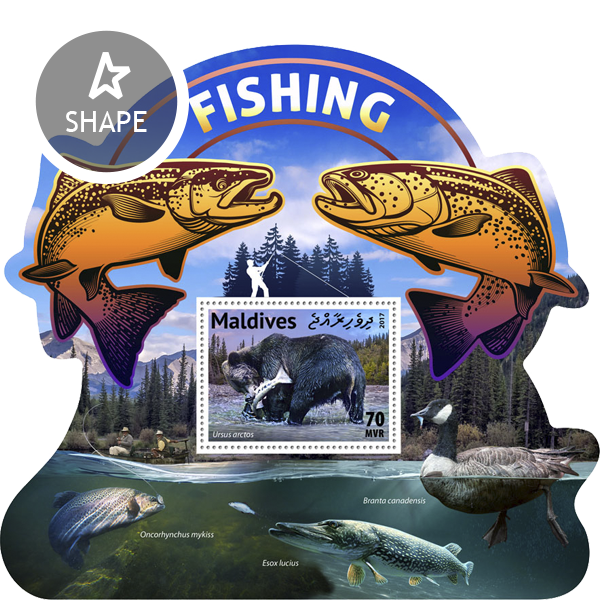 Fishing - Issue of Maldives postage stamps