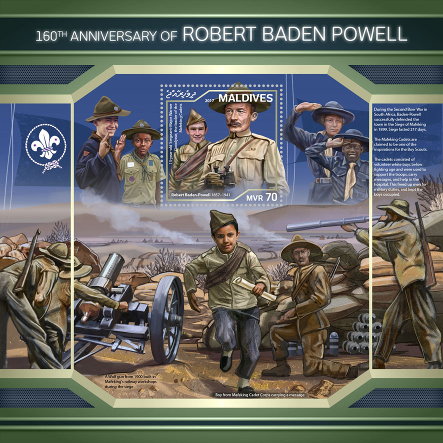 Robert Baden Powell - Issue of Maldives postage stamps