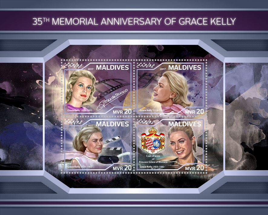 Grace Kelly  - Issue of Maldives postage stamps