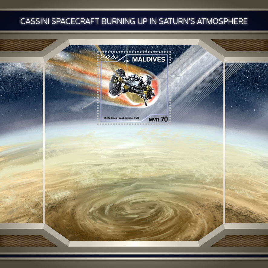 Cassini spacecraft - Issue of Maldives postage stamps