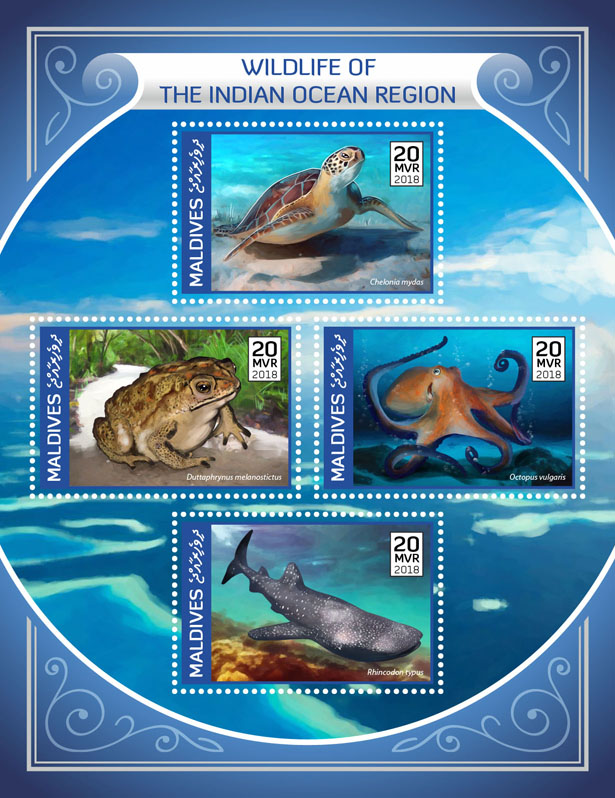Wildlife - Issue of Maldives postage stamps