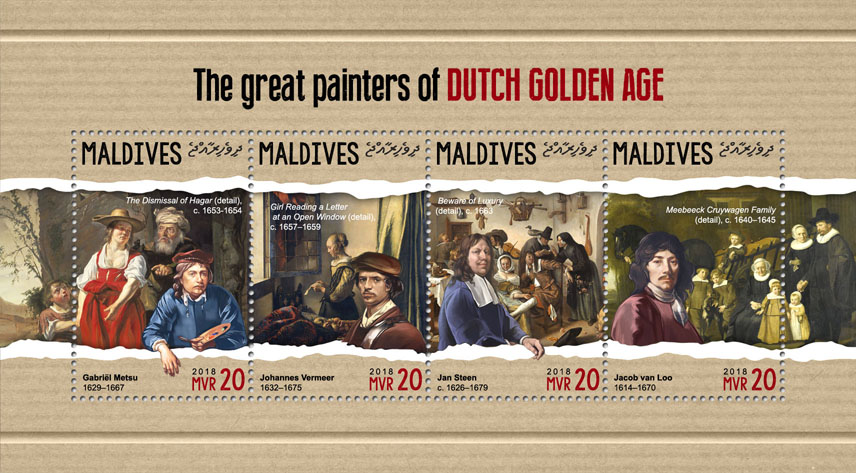 Painters of Dutch - Issue of Maldives postage stamps