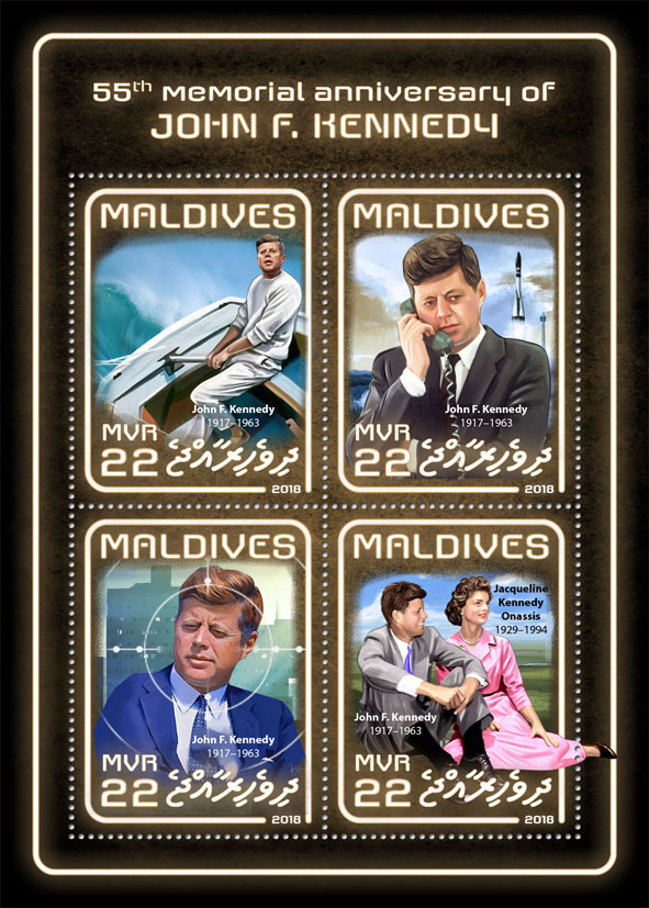 John F. Kennedy - Issue of Maldives postage stamps