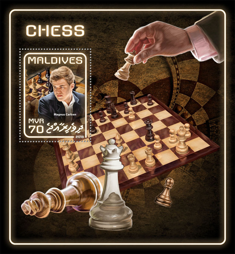 Chess - Issue of Maldives postage stamps