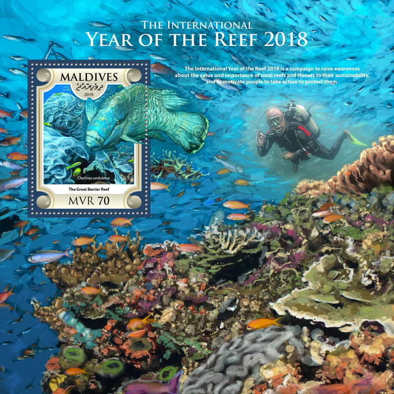 Year of the Reef 2018 - Issue of Maldives postage stamps