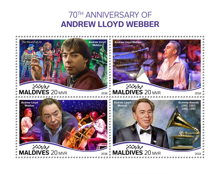 Lloyd Webber - Issue of Maldives postage stamps