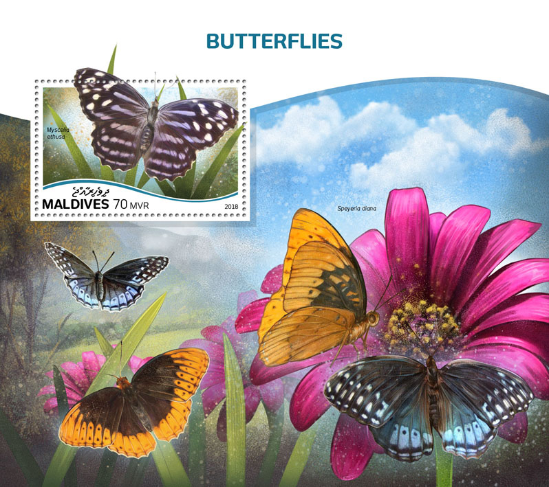 Butterflies - Issue of Maldives postage stamps