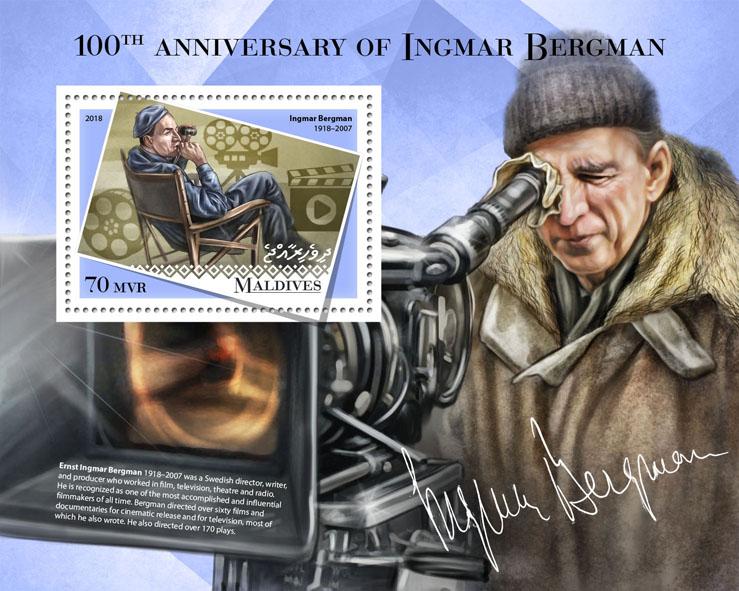 Ingmar Bergman - Issue of Maldives postage stamps