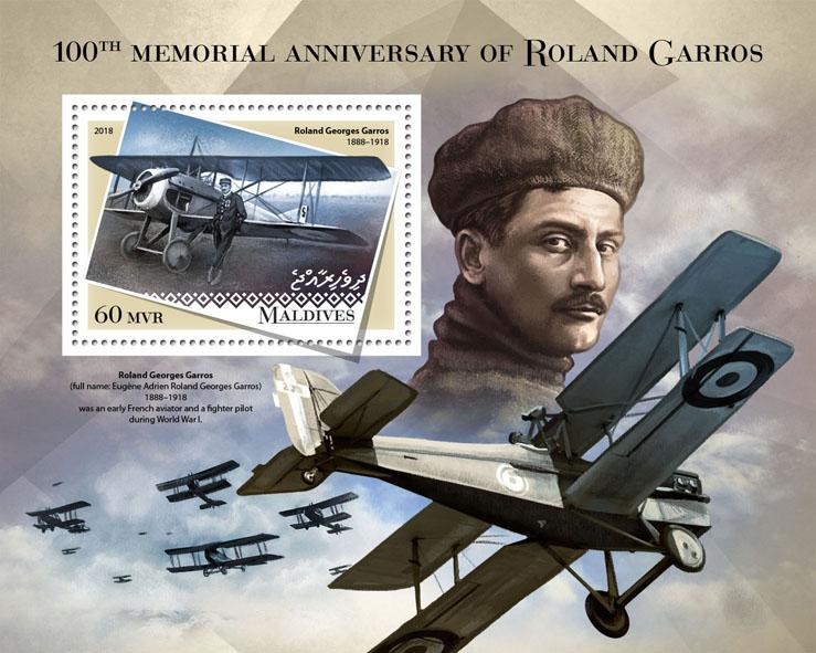 Roland Garros - Issue of Maldives postage stamps