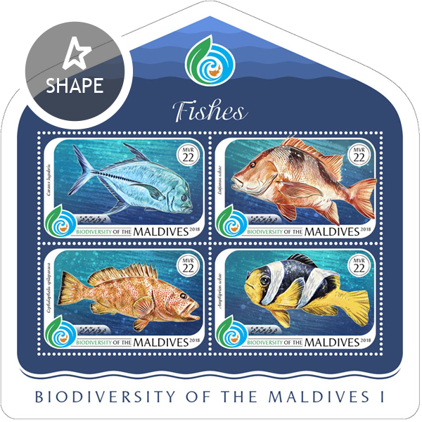 Biodiversity of Maldives - Issue of Maldives postage stamps