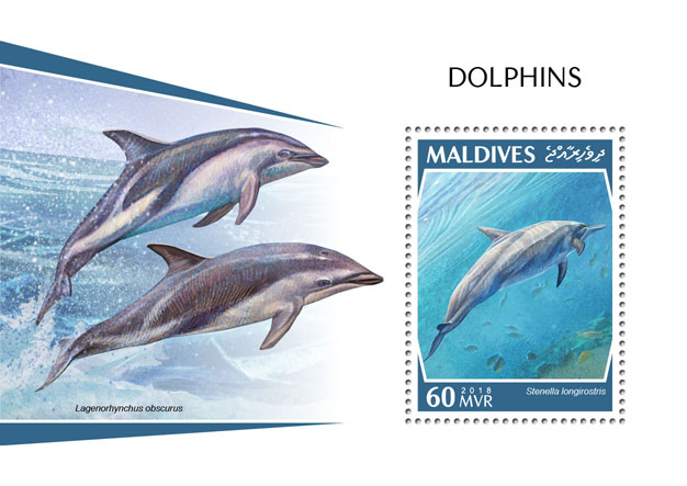 Dolphins - Issue of Maldives postage stamps