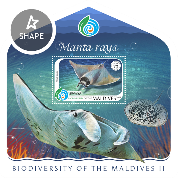 Biodiversity of Maldives II - Issue of Maldives postage stamps