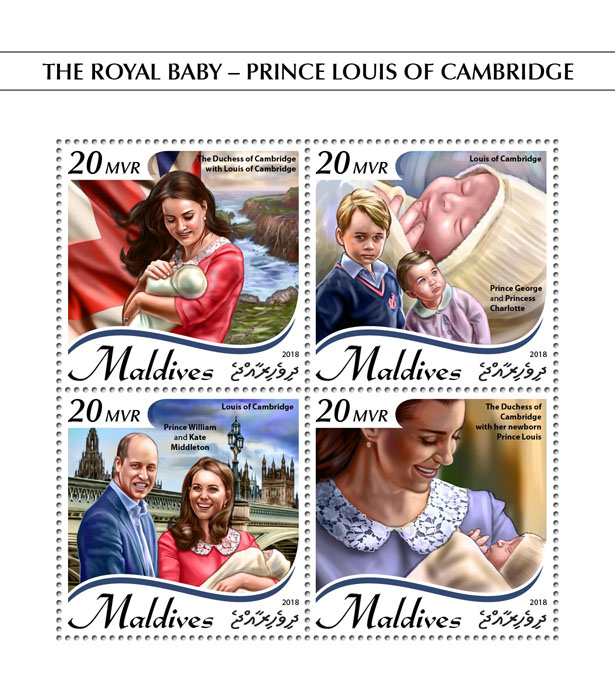 Prince Louis - Issue of Maldives postage stamps