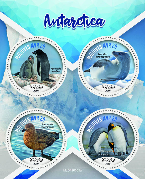 Antarctica - Issue of Maldives postage stamps
