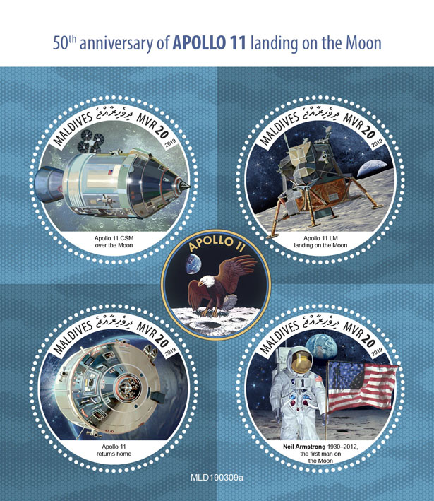 Apollo 11 - Issue of Maldives postage stamps