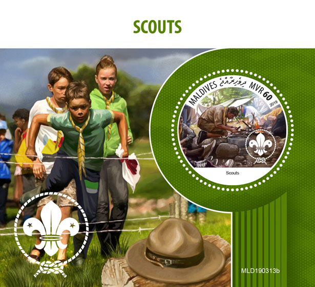 Scouts - Issue of Maldives postage stamps