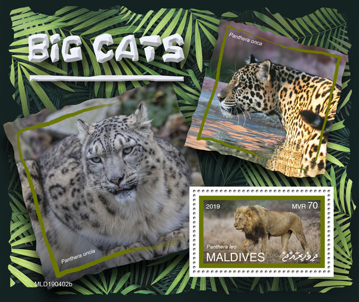 Big cats  - Issue of Maldives postage stamps