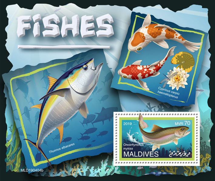 Fishes - Issue of Maldives postage stamps