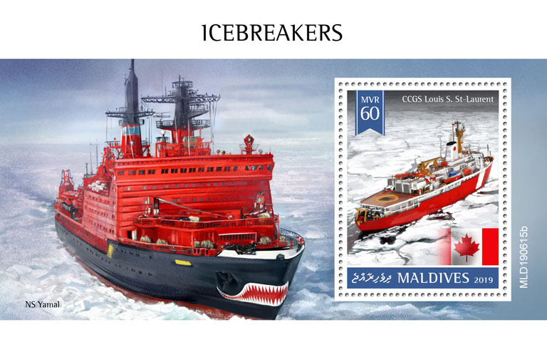 Icebreakers - Issue of Maldives postage stamps