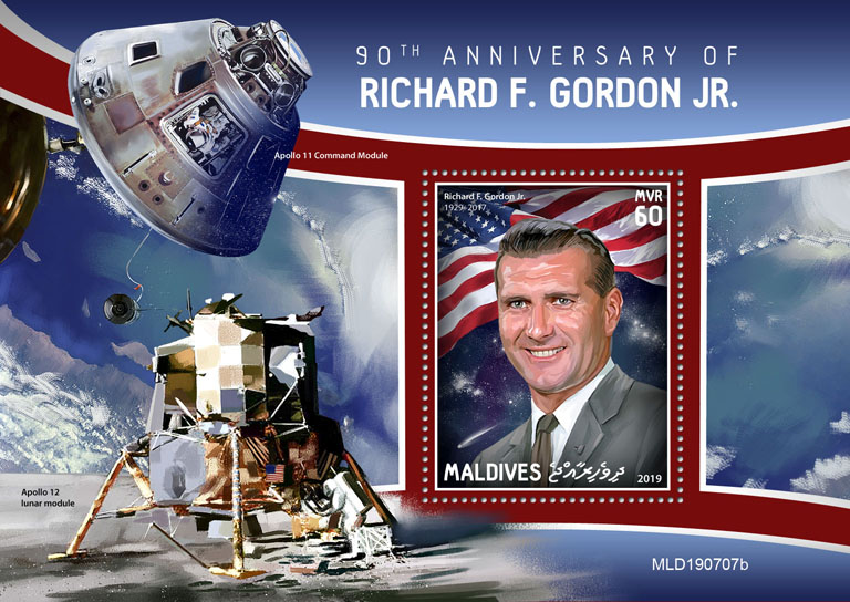 Richard F. Gordon Jr. - Issue of Maldives postage stamps